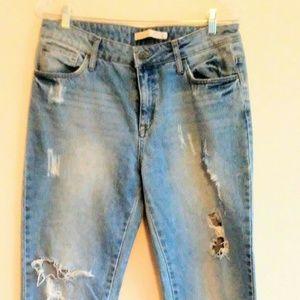 Boyfriends distressed denim jeans